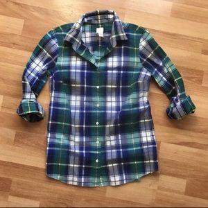 "J. Crew Women's ""Boy Shirt"" in Quincy Tartan"